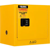 "Global Industrial™ Flammable Cabinet, Manual Close Single Door, 6 Gallon, 23""Wx18""Dx22""H"