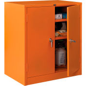 "Global Industrial™ Emergency Preparedness Cabinet, Counter Height, 36""Wx24""Dx42""H, Orange"