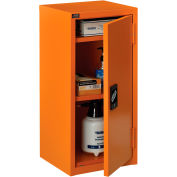 "Global Industrial™ Emergency Preparedness Cabinet, Wall Mount, 13-3/4""Wx12-3/4""Dx30""H, Orange"