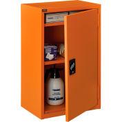 "Global Industrial™ Emergency Preparedness Cabinet, Wall Mount, 18""Wx12""Dx26""H, Orange"