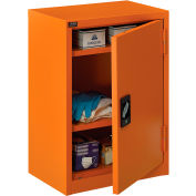 "Global Industrial™ Emergency Preparedness Cabinet, Wall Mount,19-7/8""Wx14-1/4""Dx32-3/4""H,Orange"