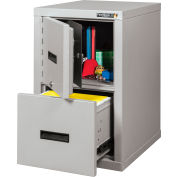 """Fireking Fireproof File Cabinet And Safe - Legal & Letter Size 17-3/4""""W x 22-1/8""""D x 27-3/4""""H"""
