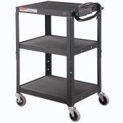 Global Industrial Steel Audio Visual & Instrument Cart - Black