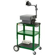 Green Big Wheel Steel Audio Visual & Instrument Cart