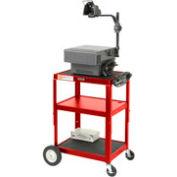 Red Big Wheel Steel Audio Visual & Instrument Cart