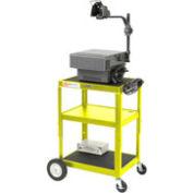 Yellow Big Wheel Steel Audio Visual & Instrument Cart