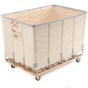 Dandux Canvas Basket Bulk Truck 40072008-3S 8 Bushel - White