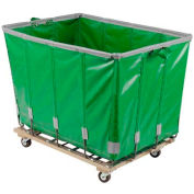 Dandux Vinyl Basket Bulk Truck 400720G08E-3S 8 Bushel - Green