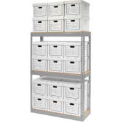 """Record Storage Open With Boxes 42""""WX15""""DX60""""H"""