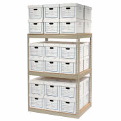 """Record Storage Open With Boxes 42""""W x 30""""D x 60""""H"""