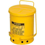 Justrite 6 Gallon Oily Waste Can, Yellow - 09101