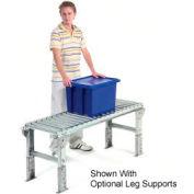 "Omni 1-3/8"" Dia. Aluminum Roller Conveyor Straight Section RAHS1.4-18-1.5-10"
