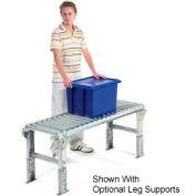 "Omni Metalcraft 1-3/8"" Dia. Aluminum Roller Conveyor Straight Section RAHS1.4-18-3-10"