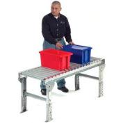 "Omni Metalcraft 1.9"" Dia. Steel Roller Conveyor Straight Section GPHS1.9X16-36-3-10-LL"