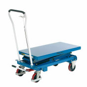 Best Value Mobile Scissor Lift Table 660 Lb. Capacity - Double Scissor - 39 x 20 Platform