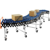 "Global Industrial™ Portable Flexible & Expandable 6'2""-24'8"" Conveyor Nylon Skate Wheels - 24""W"