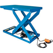 Bishamon® Lift2K Power Scissor Lift Table 48x28 2000 Lb. Cap. Hand Control L2K-2848
