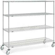 Nexel® Chrome Wire Shelf Truck 72x18x69 1200 Pound Capacity