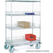 Nexel® Chrome Wire Shelf Truck 48x18x81 1600 Pound Capacity