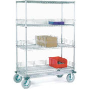 Nexel® Chrome Wire Shelf Truck 48x24x81 1600 Pound Capacity
