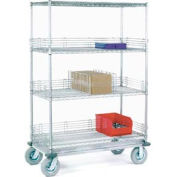 Nexel® Chrome Wire Shelf Truck 60x24x72 1200 Pound Capacity
