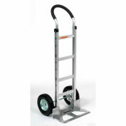 Global Industrial™ Aluminum Hand Truck - Curved Handle - Semi-Pneumatic Wheels