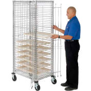 Nexel® End Load Wire Tray Truck with 39 Tray Capacity