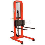 PrestoLifts™ Hydraulic Stacker Lift Truck M452 1000 Lb. with Adj. Forks