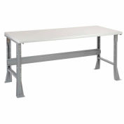 Global Industrial™ 72 x 36 x 34 Fixed Height Workbench Flared Leg - Laminate Safety Edge Gray