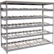 "Carton Flow Shelving Single Depth 5 LEVEL 96""W x 36""D x 84""H"