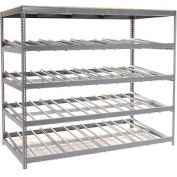 "Single Depth Gravity Flow Carton Rack 4 LEVEL 96""W x 48""D x 84H"""
