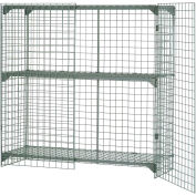 """Global Industrial™ Wire Mesh Security Cage Locker, 72""""Wx36""""Dx72""""H, Gray, Unassembled"""