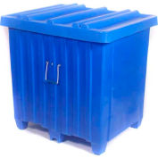 "Myton Forkliftable Bulk Shipping Container MTH-4 with Lid - 42""L x 34""W x 42""H, Blue"