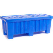 """Myton Forkliftable Bulk Shipping Container MTO-2 with Lid - 51-1/2""""L x 22-1/2""""W x 19""""H, White"""
