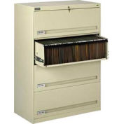 "Deluxe Retracting Front Lateral File Cabinet 42""W X 52""H - Putty"