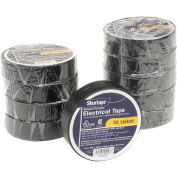 "Shurtape EV 057B Black Electrical Tape, EV 57 3/4"" X 20', 7 mil, Black - Pkg Qty 10"