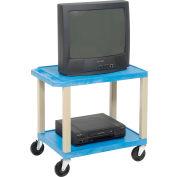 Plastic Utility Cart 2 Shelves Blue