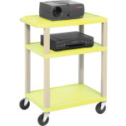 Plastic Utility Cart 3 Shelves Yellow