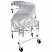 "Nestaflex® RLS24016S Portable Flexible 24""W Roller Conveyor 200 Lb./Foot"