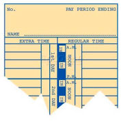 "Bi-Weekly Time Cards 10-1/2"" H For Use With Time Recorder"