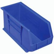 "Akro-Mils AkroBin® Plastic Stacking Bin 30265 - 8-1/4""W x 18""D x 9""H, Blue - Pkg Qty 6"