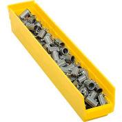 """Plastic Shelf Bin - 4-1/8""""W x 23-5/8"""" D x 4""""H Yellow - Pkg Qty 12"""