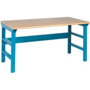 60 X 30 Shop Top Square Edge Top Workbench W/ Adj Legs-Blue