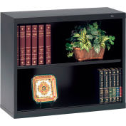 "Welded Steel Bookcase 28""H - Black"