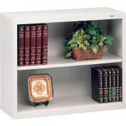 "Welded Steel Bookcase 28""H - Light Gray"