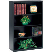 "Welded Steel Bookcase 52""H - Black"