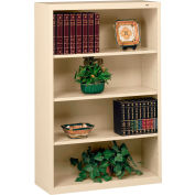 "Welded Steel Bookcase 52""H - Putty"