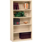 "Welded Steel Bookcase 66""H - Putty"