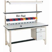 "72""L Bin Rail for Workstation - Beige"