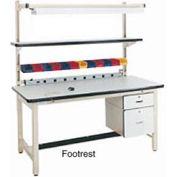 "72""L Footrest - Beige for Pro-Line Workbench"